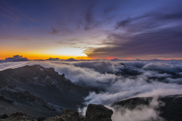 Morgendämmerung auf dem Haleakala