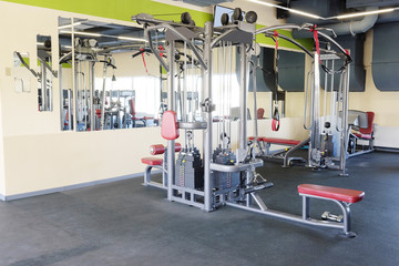 Modern interior of a fitness club