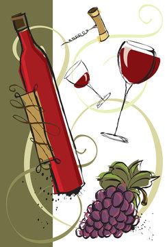 New vintage red wine