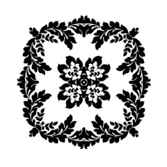 Excellent monochrome pattern for your wallpaper, clothing, porce