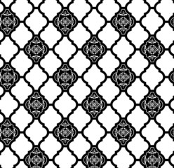 moroccan pattern with abstract ornaments