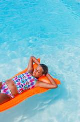 Girl at swimming pool