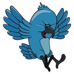 Upset bird