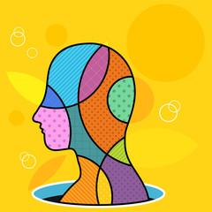 Colorful human head