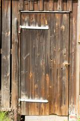 Braune Holztür