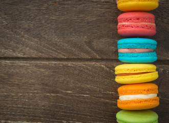 Spoed Foto op Canvas Macarons macaroon