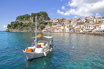 boat in Parga Greece