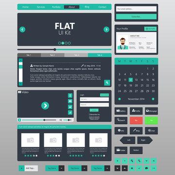 Flat Website Elements / Template Vector