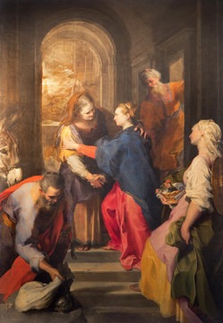 Rome - paint of Visitation in Santa Maria in Vallicella church