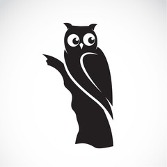 Vector of an owl on white background. Animals. Owls.