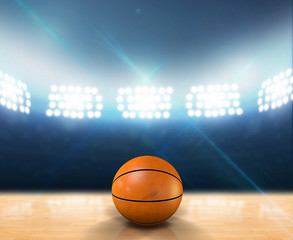 Indoor Floodlit Basketball Court