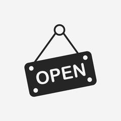 Fototapeta shop open icon obraz