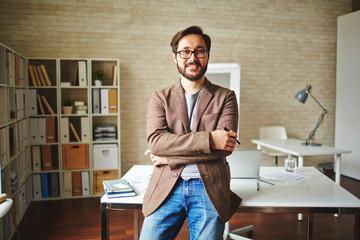 Fototapeta Businessman by workplace obraz