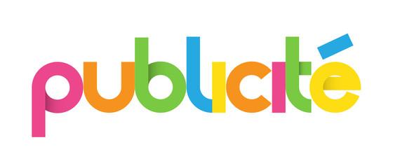 "Icône multicolore ""PUBLICITE"""