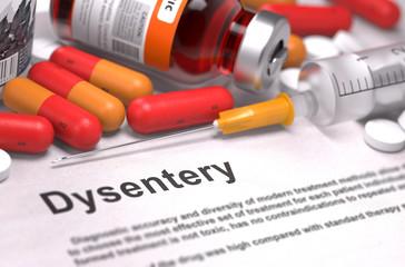 Dysentery Diagnosis. Medical Concept.
