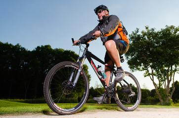 radsport mit dem mountainbike
