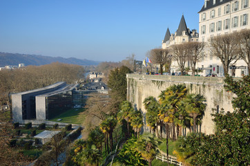 Winter view of the French city Pau