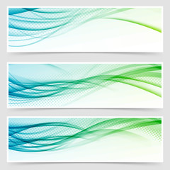 Bright eco swoosh line header web set
