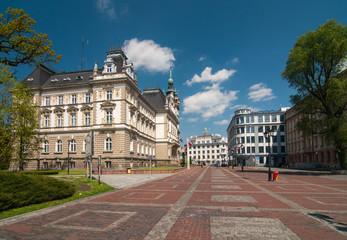 Market before Town Hall in Bielsko-Biala (Plac Ratuszowy)