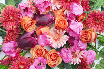 stunning mix of roses,gerberas and tulips