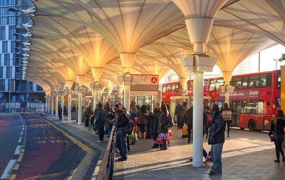 LONDON, UK - NOVEMBER 29, 2014: Stratford international station