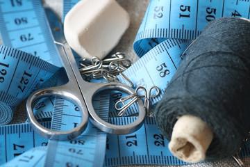 Crafts thread dressmaking scissors buttons