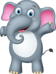 Happy baby elephant cartoon