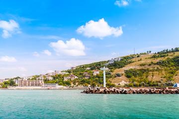 Landscape of Kavarna, coastal town in Bulgaria