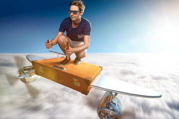 Crazy Suitcase Plane