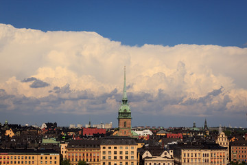 Cityscape of Stockholm, Sweden.