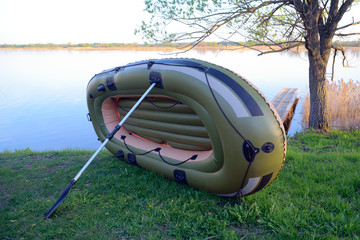 Drying inflatable boat