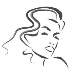 Obraz kobieta szkic wektor - fototapety do salonu