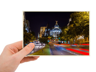 Madrid Spain photography in hand