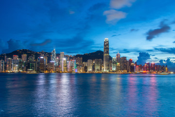 View of Hong Kong during sunset hours