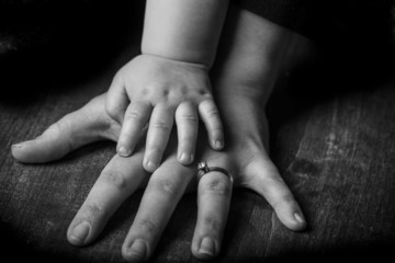 Hand of a son