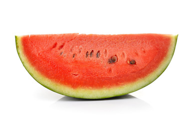 ripe watermelon isolated on a white background