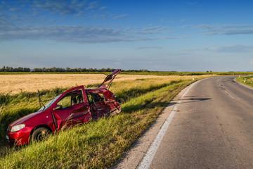 Car accident .