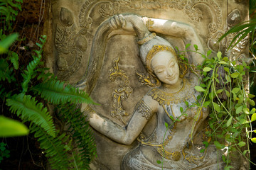 Mother Earth statue in the garden