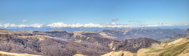 Panorama of the Greater Caucasus Mountain Range