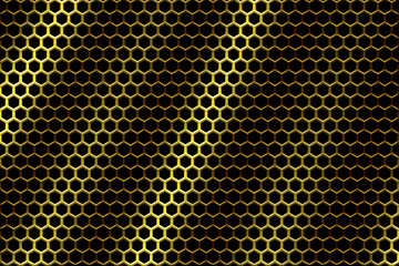 Yellow metal texture background