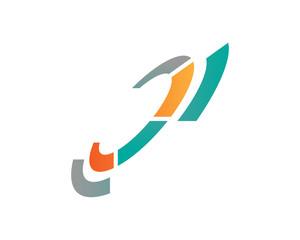 digital futuristic tech logo