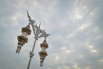 grand lantern on cloud background at Chiang rai,Thailand