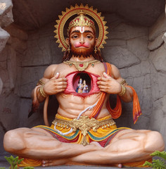 Hanuman is a Hindu god and an ardent devotee of Rama. He is a central character in the Indian epic Ramayana and its various versions. Several texts also present him as an incarnation of Lord Shiva.