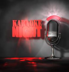 Karaoke Night - Mikrofon - Leuchten
