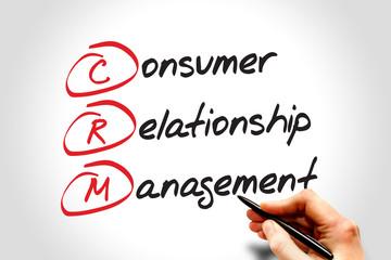 CRM Consumer Relationship Management, acronym business concept
