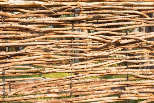 Cloture Brise Vue En Fascine De Bois De Goyaviers Photo Libre De