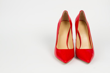 Trend shoes with high heels.