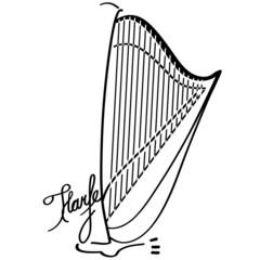 Pedalharfe als Logotype