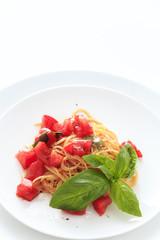 Capellini cold tomato sauce