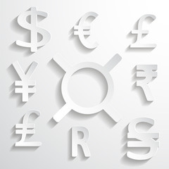 White Paper Currency Signs